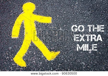 Pedestrian Figure Walking Towards Go The Extra Mile