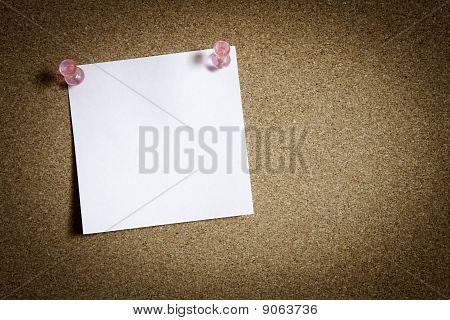 Blank Note Paper On Board