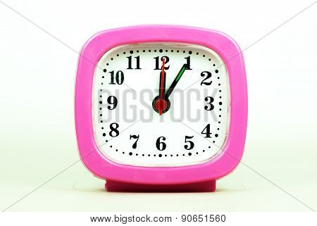 Collection Of Clock From 12:00 To 1:00 Am And Pm Isolated In White Background