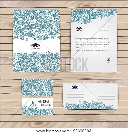 Vector Corporate Identity, Floral Pattern. Abstract Backdrop. Floral Id Template. Brand, Visualizati