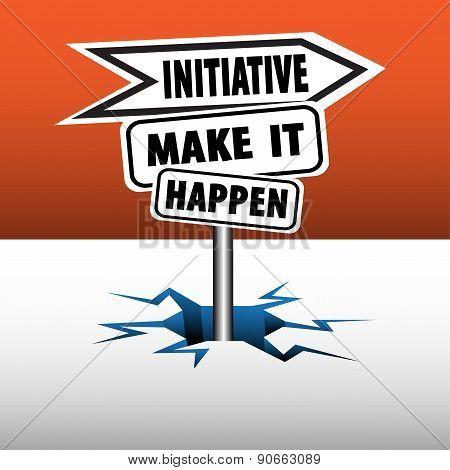 Initiative signpost