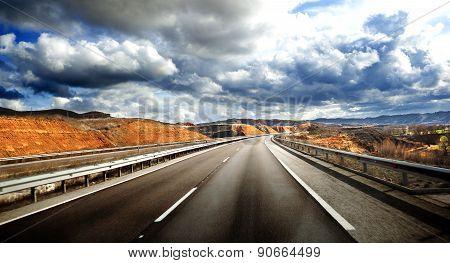 Road scenery.