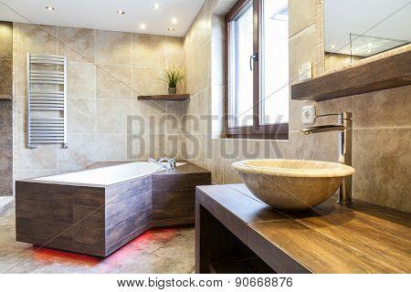 Amazing Interior Of The Bathroom