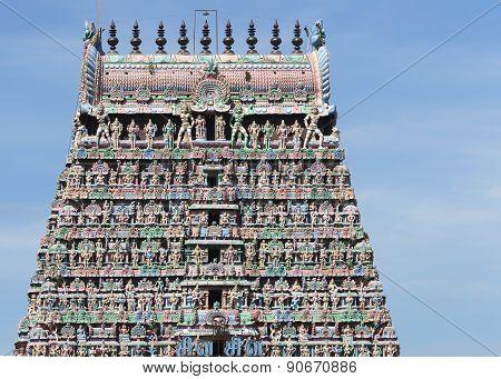 Top Half Gopuram Of The Kumbeswarar Temple.