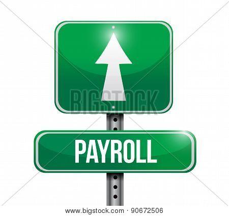 Payroll Road Sign Concept Illustration
