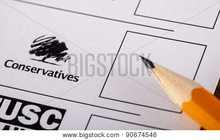 Conservatives On A Uk Ballot Paper