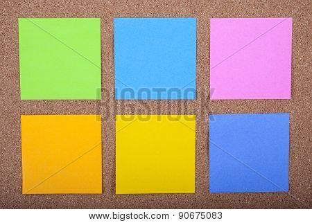 Sticky Notes On A Noticeboard