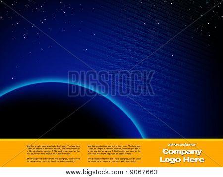 Space Graphic design Template