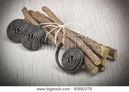 Licorice roots and licorice black