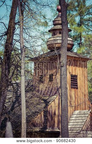 Zakopane, Poland - May 11, 2015: Old Church Of Our Lady Of Czestochowa, Built In 1847 The Oldest Rel
