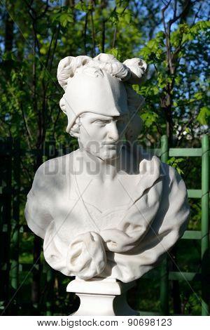 Statue of Mars the god of war in Summer Garden St.Petersburg Russia. poster