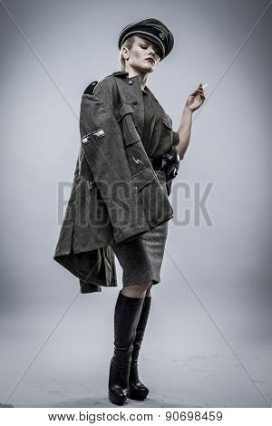 warrior, Official German woman, representation of tyranny and oppression