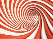3d Illustration of Abstract Red Tunnel or Background poster
