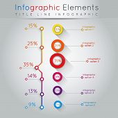Abstract business info-graphics. For web and mobile applications illustration template for design presentation work-flow layout diagram number options step up options banners. poster