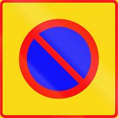 Road sign 373 In Finland - No parking zone poster