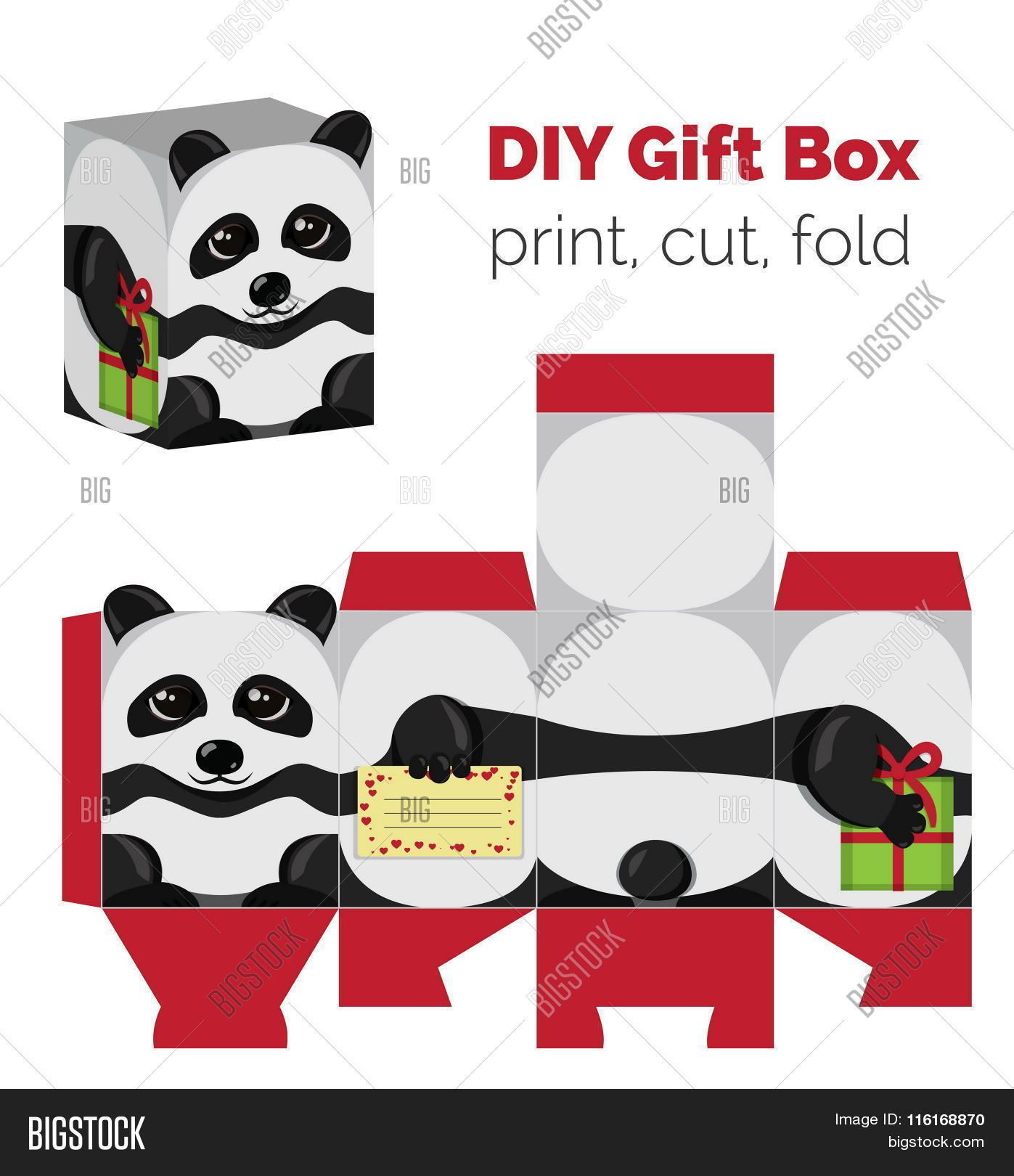 Adorable do yourself vector photo free trial bigstock adorable do it yourself diy panda gift box with ears for sweets candies small solutioingenieria Image collections