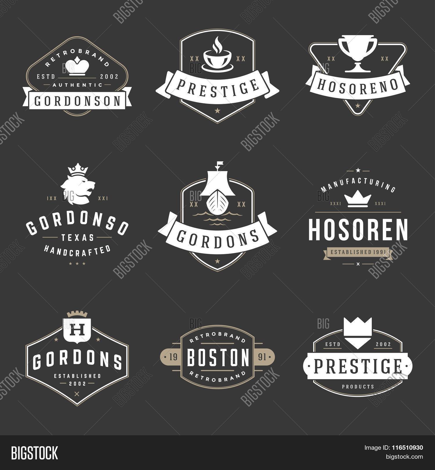 vintage logos design vector photo free trial bigstock