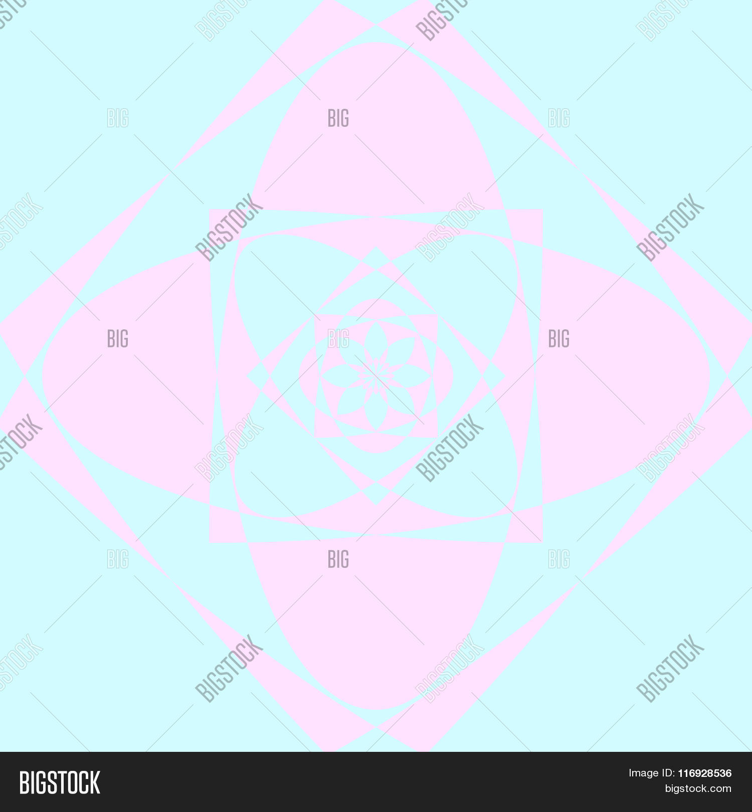 Abstract Lotus Flower Vector Photo Free Trial Bigstock