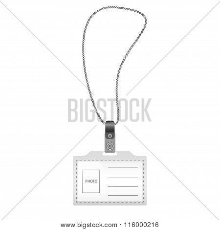 Identification Card.vector Illustration.