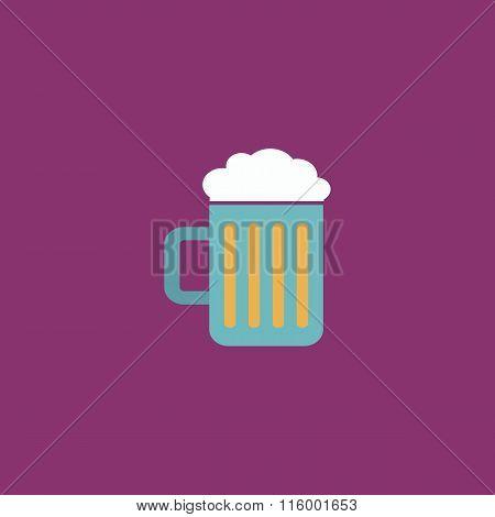 Beer mug flat icon