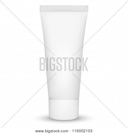 Blank White Realistic Tube For Cosmetics, Cream, Ointment, Toothpaste, Lotion, Medicine Creme Etc. I