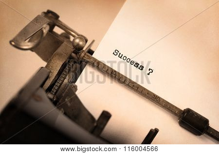 Vintage Typewriter - Success