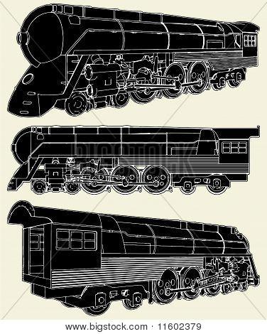 Antique Locomotive Vector 01.eps