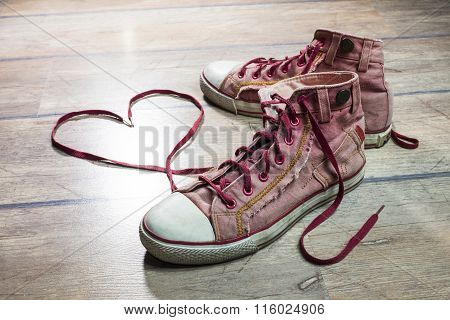 Heart Shaped Shoelaces