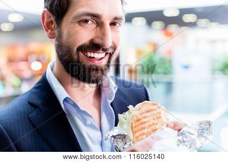 Man eating Doner Kebap