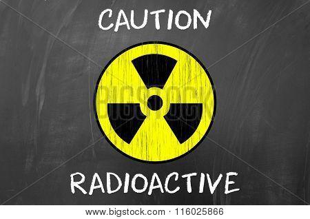 Caution Radioactive Symbol.