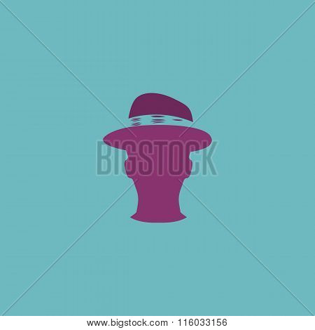 Man head with hat vector illustration