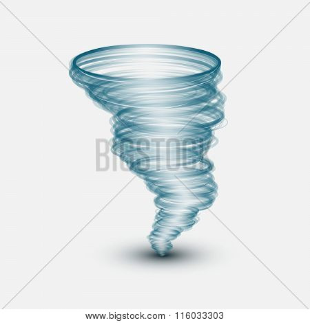 Abstract tornado on isolated background