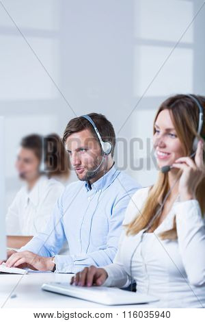 Workers Of Telesales Center