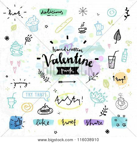 Sweets And Cakes Valentines Day Vector Graphics