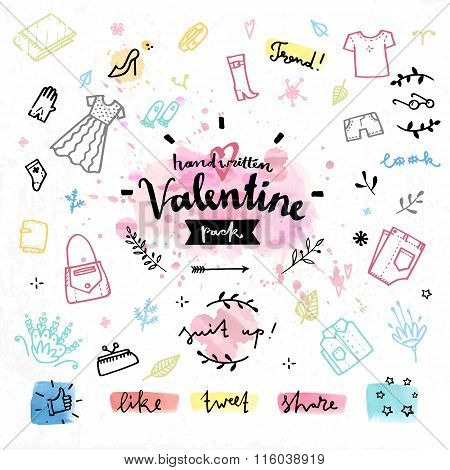 Shopping Gifts Valentines Day Vector Graphics