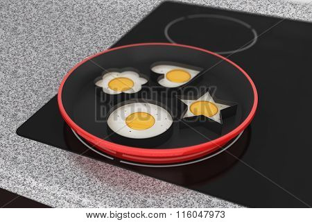Cooking Eggs On Induction Cooktop Stove