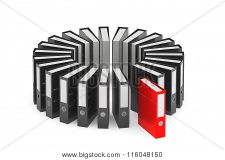 Black And Red Achive Office Binders