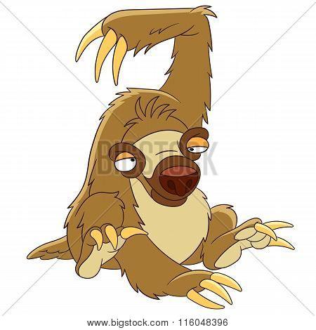 Cute Cartoon Sloth