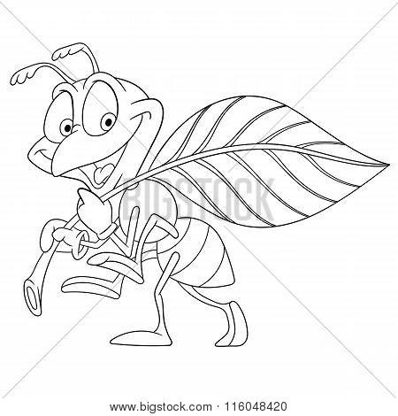 Cute Cartoon Ant