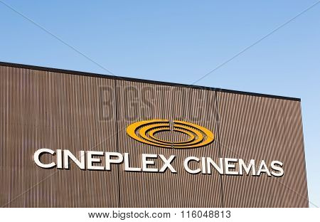 Cineplex Movie Theatre Sign