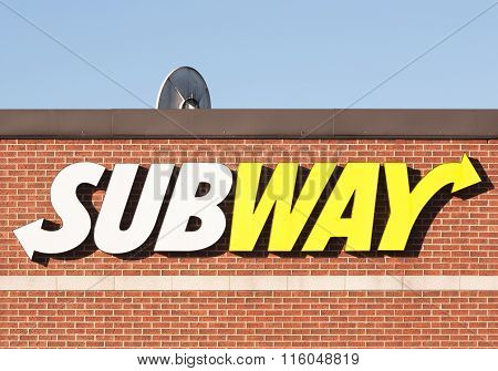 Subway Restaurant Sign