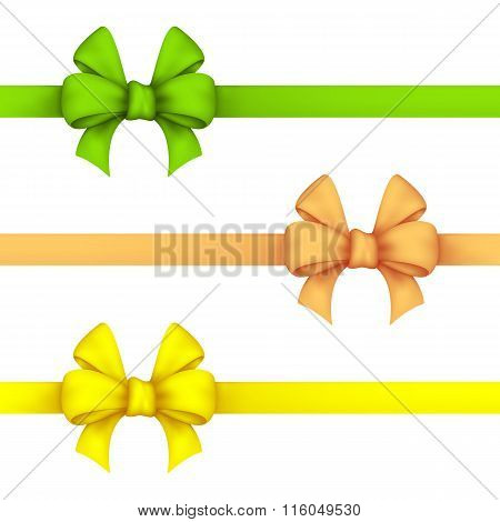 Green, Daffodil And Yellow Gift Bows