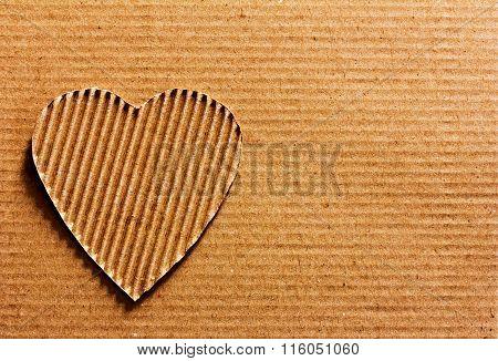 heart made of cardboard