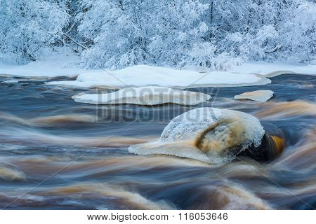 Cold winter river