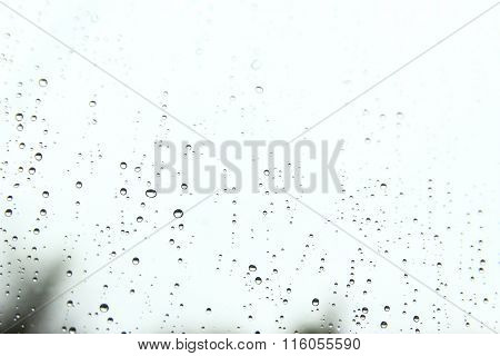 Drops On Glass Background