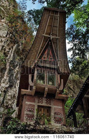 Toraja Traditional Funeral Tomb
