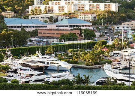 Marina And City Of St. Thomas, Usvi