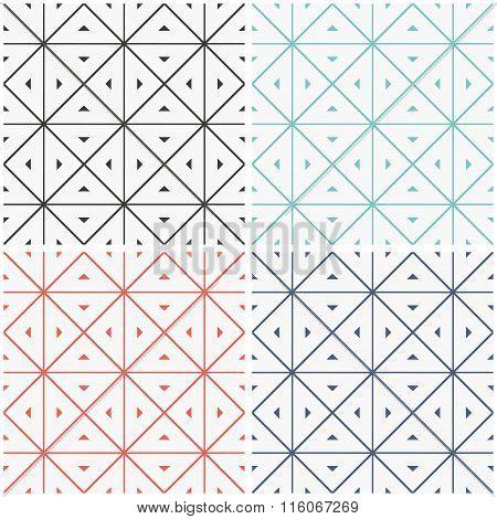 Set of seamless geometric patern.