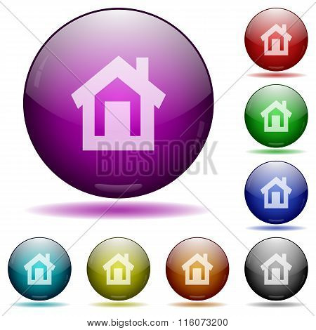 Home Glass Sphere Buttons