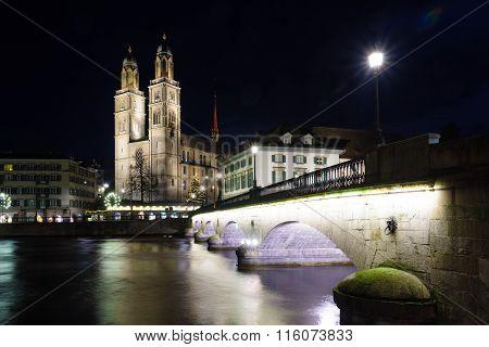 The Grossmunster (great Minster) Church, Zurich